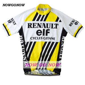 custom 2017 cycling jersey 엘프 노란 남성 의류 자전거 착용 nowgonow 레트로 저지 여름 프로 경주 로파 ciclismo mtb 도로 bicicleta 시원한