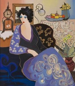 Encadré Itzchak Tarkay, Peinture à l'huile sur toile épaisse Multi tailles Livraison gratuite Ab126
