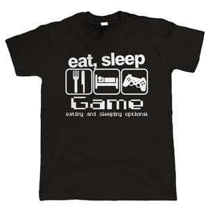 Eat Sleep Game New Fashion Herren T-Shirts Kurzarm T-Shirt Baumwolle O Neck T-Shirts Mann Kleidung Kostenloser Versand