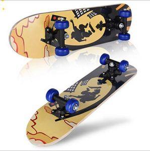 Ein Grad Ahornholz Kind Tretroller Skateboard ABS Doppel Rocker 60 * 15 * 10.5cm 3 pcs lot