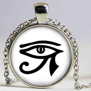 Ciondolo collana Eye of Horus New ARRIVED Jewelry Girl Round Gothic Glasses antico pendente collana ragazze maglione catena