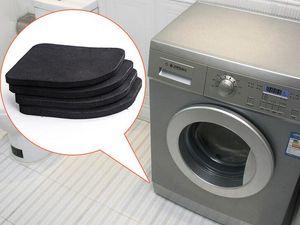 Yeni Varış Çamaşır makinesi şok pedleri kaymaz paspaslar Buzdolabı Anti-titreşim pedi 4 adet / takım