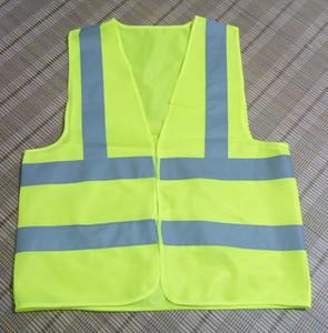 2017 Worker Clean Sanitation Road Traffic Giubbotto riflettente di avvertimento Gilet di sicurezza riflettenti ad alta luce Logo personalizzato