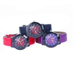 Wholesale 50pcs lot pu watch Ms. watch belt butterfly classic style glossy watches jd301 WR021