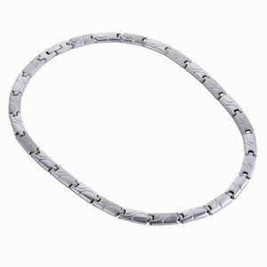 7 мм женщины мужская звено цепи колье ожерелье высокое качество нержавеющей стали здравоохранения магнитное ожерелье Оптовая челнока ювелирные изделия