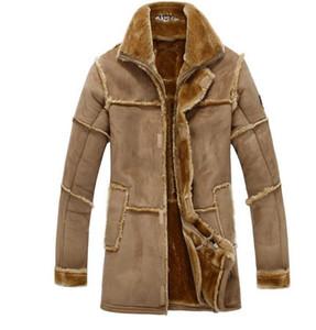 Leather Jackets Men Coats Winter Warm Plus thick velve Leather Jacket Men's Fashion Luxury Leather Mens Fur Coat Jacket casual