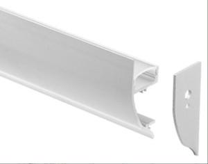 Kostenloser Versand 2m / pcs 30m / Los Neues Ankunfts-12mm passende Größe Aluminiumprofil mit klar oder milchig-weißen PC-Abdeckung und Metall-Endkappen