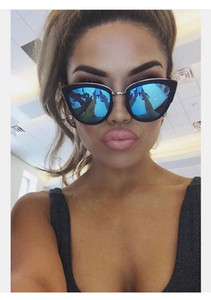 Vintage Kedi Göz güneş kadın gözlük 2019 retro Marka Ayna kadın güneş gözlüğü Gözlük UV400 óculos de grau feminino gafas