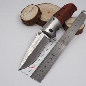 Yeni Browning DA51 Katlanır Bıçak Taktik Survival Bıçak 440 Blade Ahşap Kolu Cep Avcılık Bıçaklar Kurtarma Açık Kamp EDC Çok Araçları