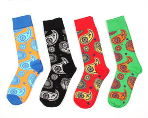 Happy Socks, Man Colorful Happy Dress Socks, Combed Cotton Strip Man Business Socks