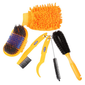 Kits de herramientas de limpieza de bicicletas Cepillos de llantas para limpieza de cadenas Guantes de limpieza de bicicletas Juegos de limpiadores de bicicletas EA14