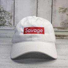 Savage Box Logo Pai Chapéu Lit Boné de Beisebol Bordado Curvo Bill 100% Algodão chance o rapper eu sinto como gorras osso pablo Casquette