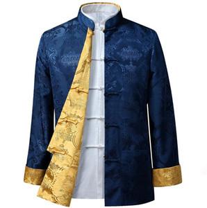 Китайский стиль мужской куртку Типичный Fsashion Индивидуальные мужчины Верхняя одежда HY005