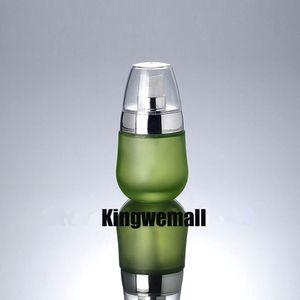 Бесплатная доставка 300 шт. / Лот 30 мл зеленого стекла бутылка лосьон с серебряным насосом, пресс-насос бутылки, косметический контейнер ENG03
