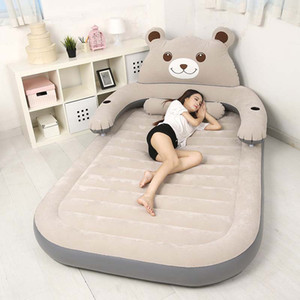 230x150cm aufblasbare Luftmatratze Bett PVC Luftmatratzen Luftmatratze mit Beflockung Oberfläche für 2person