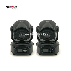 2pcs 90W Led Spot Moving Head Light DMX 512 Controller 90W Gobo Led Moving Display LCD chiaro con 3 Face Prism