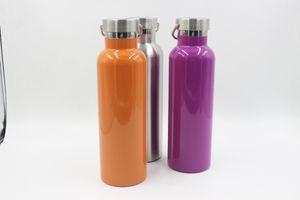 Sommer 26oz 750 ml Sport Cup Flasche Doppelwandige Vakuum Auslaufsicher Reisebecher Schule Kinder Sportflasche mit Sport tragbaren Kappe