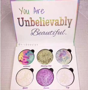 El más nuevo maquillaje 6 colores Mermaid Love Luxe Beauty Fantasy Palette Eye Shadow Highlighter Palette Envío de DHL