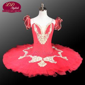 Красный балетная пачка сценический костюм Классический балетная пачка профессиональные балетные костюмы балетная пачка танцевальные костюмы LD0011