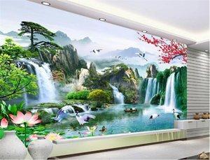 3D personnalisé photo papier peint wallpapers wall stickers Belle TV fond mur papel de parede para quarto tapety