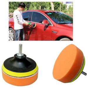 Mayitr 5PCS Durable 4 inch Car Sponge Polishing Pad Waxing Buffing Pads Drill Adapter Kit Set Clean Wash Tools for Car Polisher