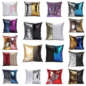 Pullu Yastık Kılıfı kapak Mermaid Yastık Kapak Glitter Geri Dönüşümlü Kanepe Sihirli Çift Tersinir Tokat Minder kapak 23 tasarım