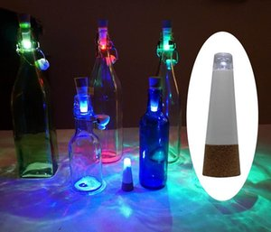 Originalità Luce a forma di sughero USB ricaricabile Bottiglia Bottiglia luminosa LED LAMP Cork Plug Vino bottiglia USB LED Night Light JF-733