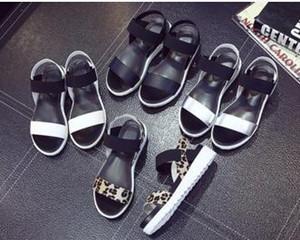 2017 Женщины летние сандалии обувь peep-toe сандалии плоские туфли римские сандалии обувь женщина mujer дамы шлепанцы обувь D30A26