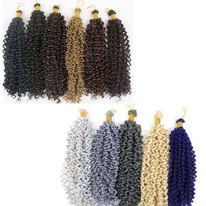 Kanekalon pelo trenzado onda de agua a granel 14 pulgadas 100 g paquetes de pelo trenzas sintéticas extensiones de cabello más colores