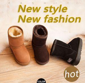 Botas WGG Nuevas botas clásicas Invierno impermeable para niños cálido invierno niñas niños niños botas de nieve Botas de nieve para niños australianos zapatos 2018