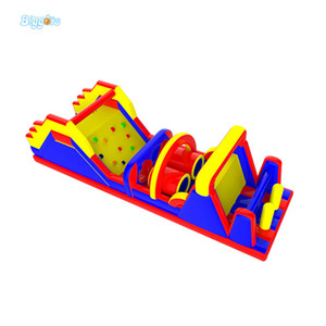 Obstáculo precio de fábrica EN14960 Certificted uso al aire libre Durabe PVC material comercial recorrido de la carrera Carreras hinchables para la venta