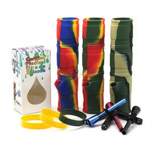 Silikon Bongs Silica Shisha Shisha Silikon Wasserpfeife Tragbare Shisha Silikon Mehr Farbe Kann gerollt werden Tragbare Certified Medical Grade