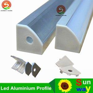 40m (20 pezzi) molto, 2m per pezzo, profilo in alluminio anodizzato per luce a led, forma triangolare