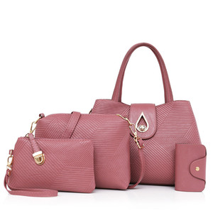 2017 горячие продажи роскошные композитные сумки 4 шт. Набор одно плечо сумка crossbody сумки женщины сумка 962#