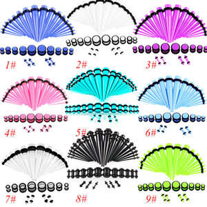 Acrylic Set Ear, 36pcs   lot Bubble, 14G-00G Puncture Jewelry, High Quality Puncture Jewelery Wholesale DHL Free Shipping