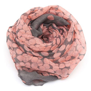 1PC 2017 HOT SALE Women Lady Spring Autumn Warm Soft Long Voile Neck Large Scarf Wrap Shawl Stole Pink Grey Dots Scarve Pashmina