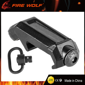 FIRE WOLF Tactical RAS QD Sling Montage en métal Airsoft Black Sling Point pivotant Low Profile 20mm Picatinny Rail Mount