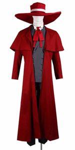 Kukucos Halloween Hellsing Alucard Jacket Coat Set Cosplay Costume Aisa Size Unisex Super Cool Stage Performance Suit