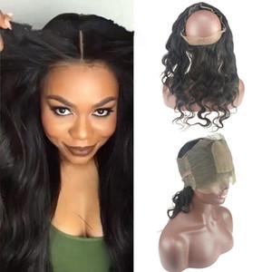Silk Base 4x4 360 Lace Band Frontal Verschluss mit Babyhaar Brasilianische Körperwelle Virgin Hair 360 Lace Frontal mit verstellbaren Trägern