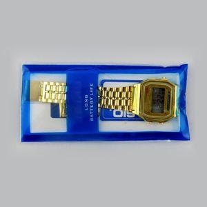 Envío gratis F-91W LED relojes Moda ultra-delgada digital LED Relojes F91W Hombres Mujeres Sport reloj
