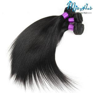 Brezilyalı Düz Saç 3 Demetleri Toptan Işlenmemiş Bakire İnsan Saç Dokuma Uzantıları Siyah Kadınlar Için Saç Atkı Doğal Renk