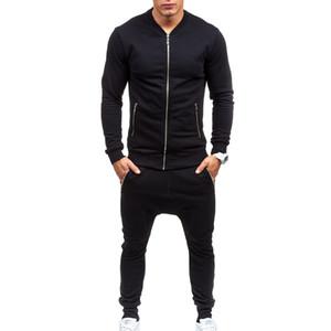 Hommes Casual Wear Set Pantalon Mode Sweatshirts Plus Taille XXXL Ropa de Deporte Support Black Fitness Mens Hommes Schecksuits
