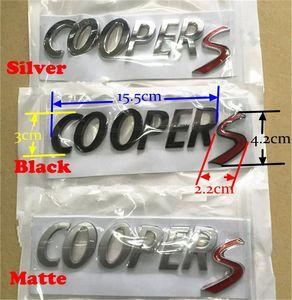 Araba stil MINI Cooper S Bagaj kapağı Arka Boot Bagaj Hatch Siyah Mat Gümüş için plastik Harf Metal Emblem kelimeleri Rozet ABS