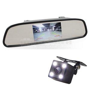 Авто HD парковка мониторы системы HD камера заднего вида автомобиля камера с 4.3-дюймовый автомобиль зеркало заднего вида монитор автомобиля