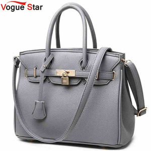 Atacado Couro Vogue Estrela bloqueio Rivet Ladies Tote Bag 2016 novas bolsas de alta qualidade Mulheres Messenger Bag Ombro LS312