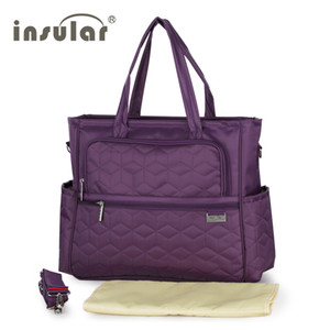 Wholesale Insular Nylon Multifunctional Baby Diaper Bag Large Capacity With Waterproof Nylon Material