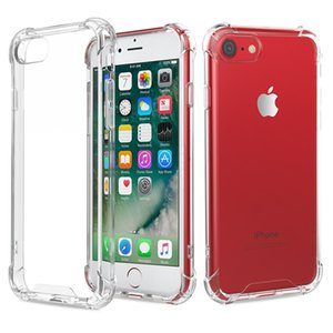 Estuche rígido de la cubierta de acrílico transparente de la esquina del amortiguador de aire para el iPhone XS Max XR X 8 7 6 6S más Samsung Galaxy S10 E 5G S9 S8 Nota 9 M10 M20 M30