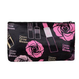 الجملة ، الطباعة اليد حقيبة سستة حقيبة ماكياج صغير حقيبة السيدات النايلون التجميل للمرأة QB0131