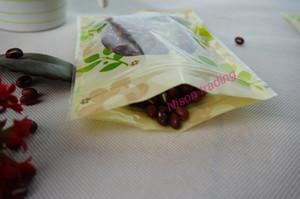 pencere yeniden sığır sarsıntılı aperatif plastik torba ile PET plastik Kilitli torbayı baskı 14 * 20cm, 100pcs / lot Çiçek, kuru çiçek çuval paketi