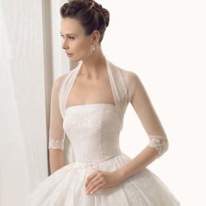 2017 새로운 컬렉션 3/4 아플리케를 가진 소매 도매 / 소매가 Charming Design Bridal Jacket 100 % 좋은 품질 Wedding Bolero